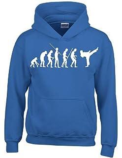 Coole-Fun-T-Shirts Karate Evolution Kinder Sweatshirt mit Kapuze Hoodie  Kids Gr c1fb6c8365