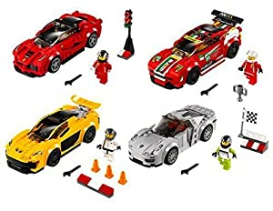 lego speed champions race cars set of 4 toys games. Black Bedroom Furniture Sets. Home Design Ideas