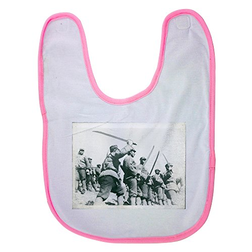 Pink Baby Bib With Long Swords Versus Machine Guns In China The 129Th Route Army Date  7 28 1937The Second Sino Japanese War  July 7  1937     September 9  1945   Baby Boy Bibs  Dribble Bibs  Co
