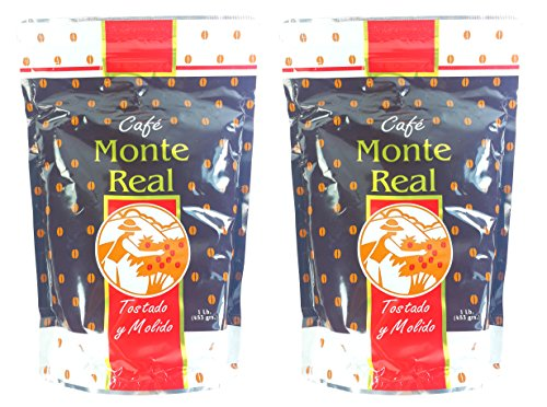 Monte Real Ground Dominican Coffee 2 Bags/Pounds Pack