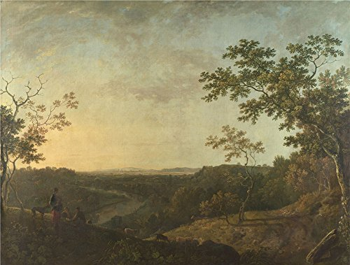 The High Quality Polyster Canvas Of Oil Painting 'Richard Wilson The Valley Of The Dee With Chester In The Distance ' ,size: 8 X 11 Inch / 20 X 27 Cm ,this Imitations Art DecorativePrints On Canvas Is Fit For Nursery Decor And Home Decoration And Gifts