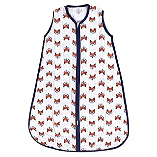 Yoga Sprout Unisex Baby Sleeveless Cotton Sleeping Bag, Sack, Blanket, Clever Fox, 0-6 Months