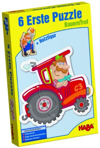 HABA Little Hand Puzzles - Farm Board Game - Haba Puzzle Book