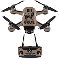 Skin for DJI Spark Mini Drone Combo - Alpacalypse| MightySkins Protective, Durable, and Unique Vinyl Decal wrap cover | Easy To Apply, Remove, and Change Styles | Made in the USA