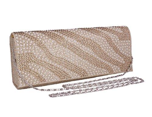 Bag Clutch Adoptfade Black Sparkly Evening Beaded Womens Long Silver Elegant qpHw7A4