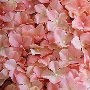 Efavormart 4 PCS Blush Silk Hydrangea Flower Mat Wall Wedding Event Decor for DIY Centerpieces Arrangements Party Home Decorations 4