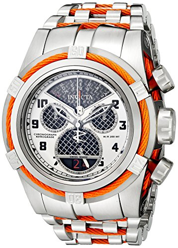 Invicta Men's 16315 Bolt Silver-Tone Stainless Steel Watch With Orange Wire