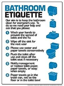Amazon Com Bathroom Etiquette 12 Quot X 16 Quot Poster Office
