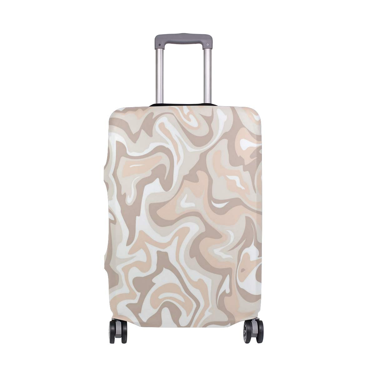 Light Pink Marble Pattern Traveler Lightweight Rotating Luggage Cover Can Carry With You Can Expand Travel Bag Trolley Rolling Luggage Cover