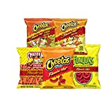hot chip - Frito-Lay Flamin' Hot Mix Variety Pack, Cheetos Cheese Snacks, Funyuns and More, 40 Count