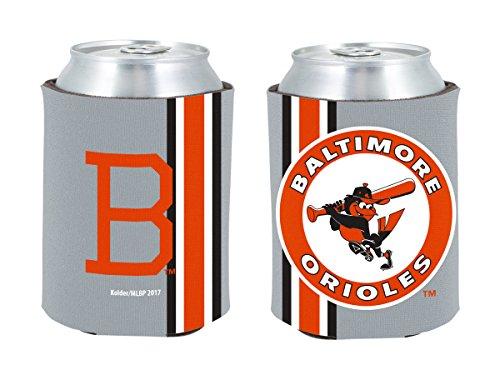 Baltimore Orioles 2-PACK CAN Retro THROWBACK Koozie Neoprene Holder Cooler Coolie Baseball -