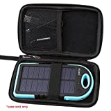 Hard Carrying Travel Case for Solar Charger,Dizaul 5000mAh Portable Solar Power Bank by Aproca