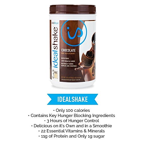 IdealShake Meal Replacement Shakes  11-12g of Healthy Whey Protein Blend   Promotes Weight Loss   22 Essential Vitamins & Minerals   5g of Fiber   Chocolate   30 Servings by IdealShape (Image #3)