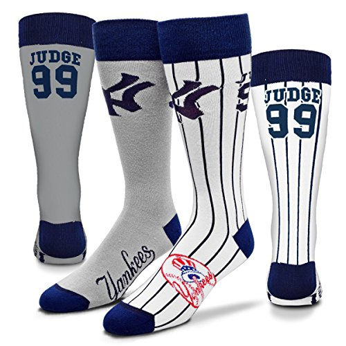 New York Yankees Big Top Mismatch Socks - Aaron Judge #99 (Medium)