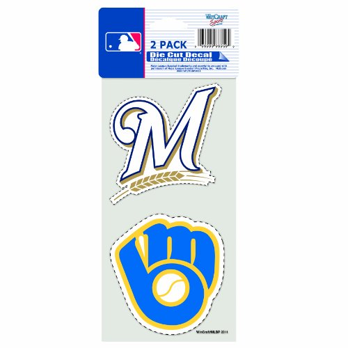 (MLB Milwaukee Brewers 2-Piece Die-Cut Decal, 4