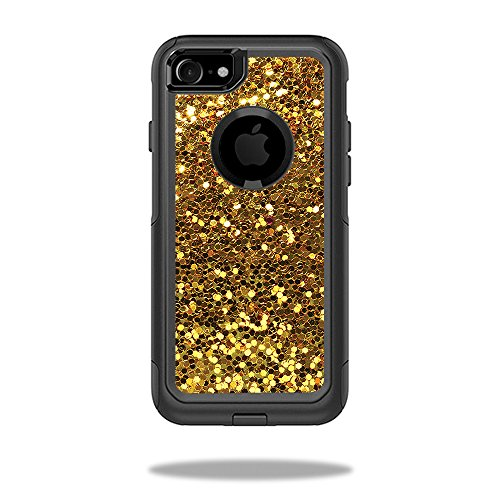 MightySkins Skin Compatible with OtterBox Commuter iPhone 8 - Gold Dazzle   Protective, Durable, and Unique Vinyl Decal wrap Cover   Easy to Apply, Remove, and Change Styles   Made in The USA
