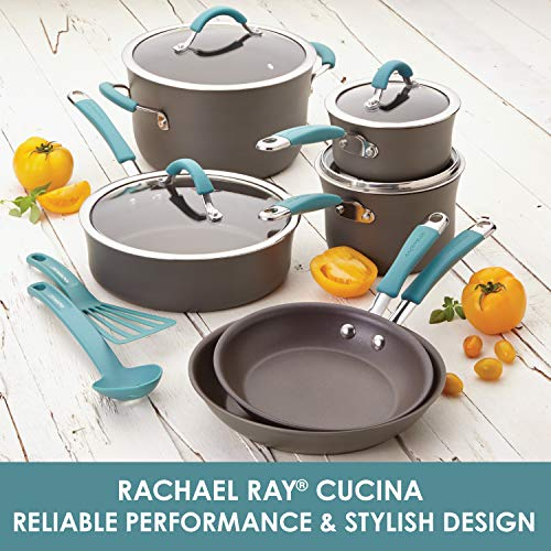 Rachael-Ray-Cucina-Hard-Anodized-Nonstick-Cookware-Pots-and-Pans-Set-12-Piece-Gray-with-Blue-Handles