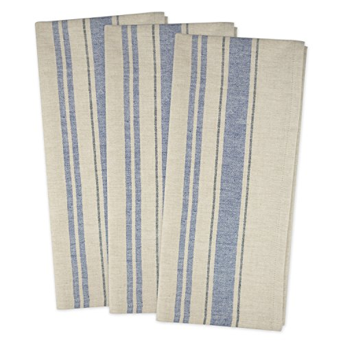 Flour Sack Fabric (DII Cotton Oversized French Stripe Dish Towels, 20 x 30