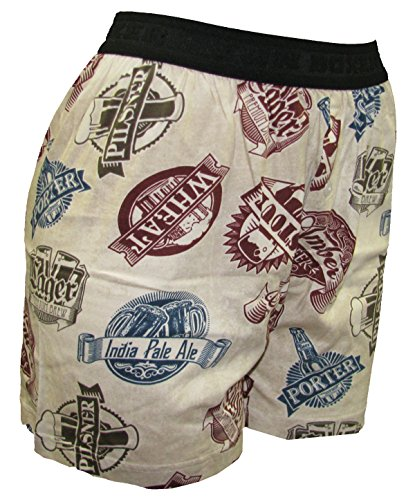 Fun Boxers Beer Craft Boxer Shorts for Men-Large