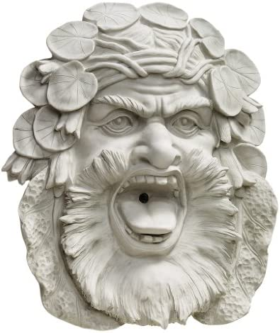 Design Toscano KY2082 Hafod Mansion Greenman Fountain Wall Sculpture,woodtone