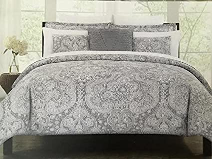 medallion silver with com duvet contemporary comforter paisley to incredible tahari regard gray king bedroom cover new clubnoma plan set