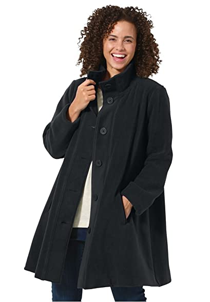 Amazon.com: Women's Plus Size Jacket, Swing Style, In Cozy Fleece ...