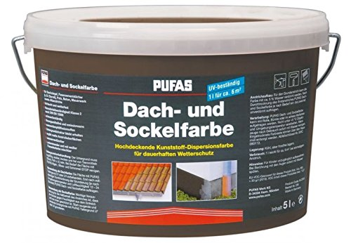 Dach- und Sockelfarbe 2,5 L, 963 Anthrazit