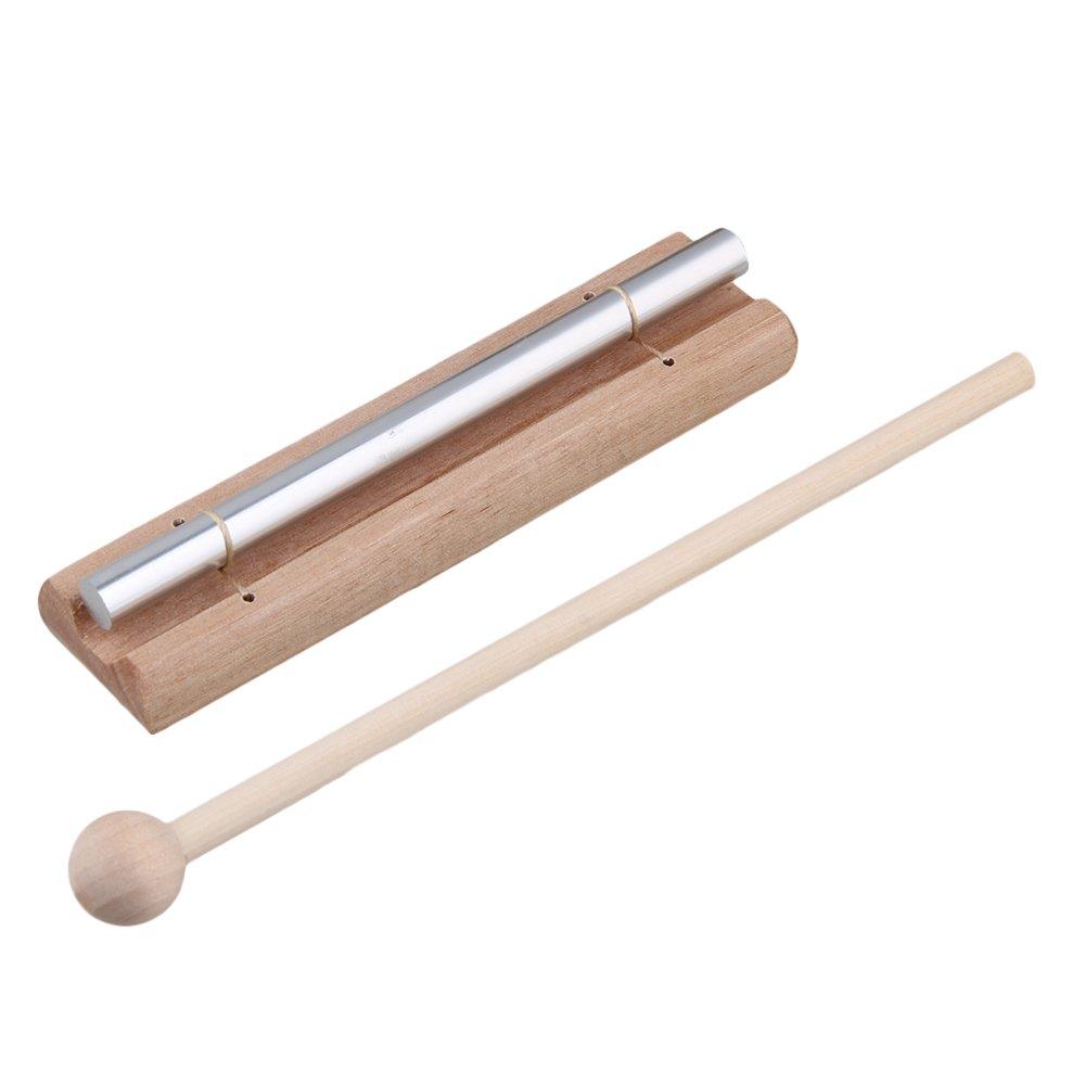 Yibuy Aluminum Mini Solo Wind Tuned Chime Children Music Tools with Wooden Struking Mallet etfshop Yibuy98