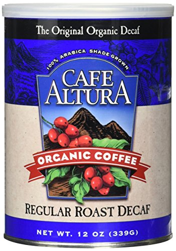Cafe Altura Organic Coffee, Regular Roast Decaf, Ground Coffee, 12 Ounce Can