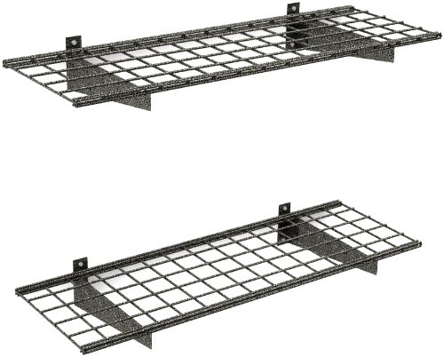 (HyLoft 00651 45-Inch by 15-Inch Garage Wall Shelf Storage, Hammertone, 2-Pack)