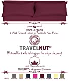 Best Clearance Burgundy California King Size Real 100% Pure Organic Cotton 4 Piece Bed Sheet Set 600 Thread Count Deep Pocket Hypoallergenic Back to School Gift for Sale (California King, Burgundy)