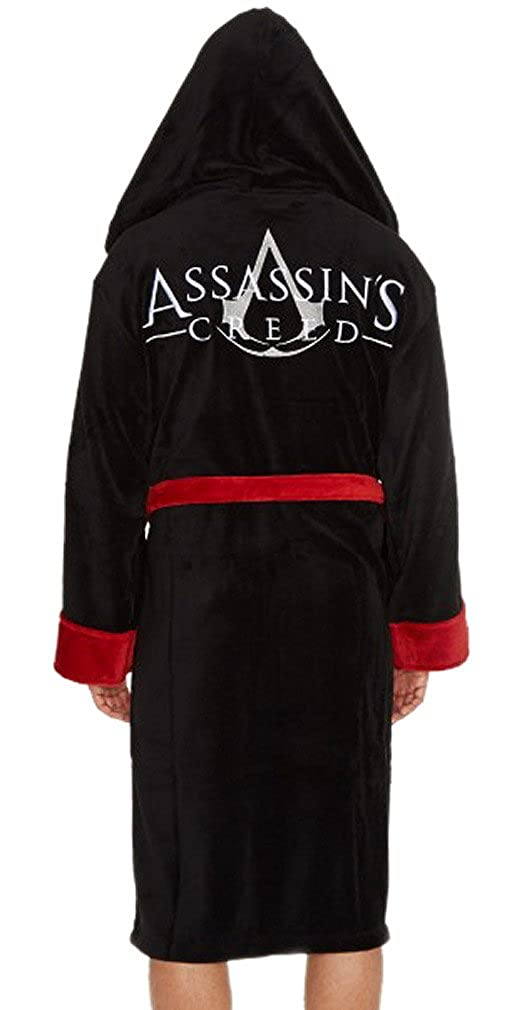 fe19772bd1 Official Mens Assassins Creed Luxury Fleece Robe Dressing Gown with  Embroidered Logo