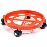 Maruti Gas Cylinder Trolley with Wheels|Gas Trolly|Lpg Cylinder Stand (Red)