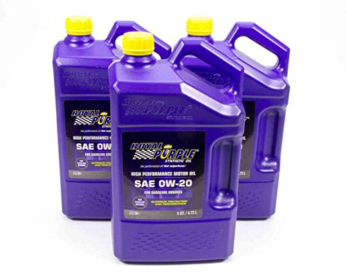 Royal Purple 53020 0w20 Multi-Grade SAE Oil3x5qt Bottles, 480. - 20 Gear Quart
