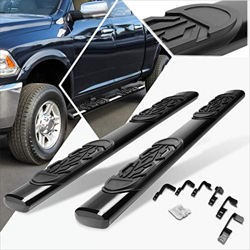 6 Inches Black Oval Running Board Side Step Nerf Bar Compatible with Dodge Ram 4-Dr Crew Cab 09-14