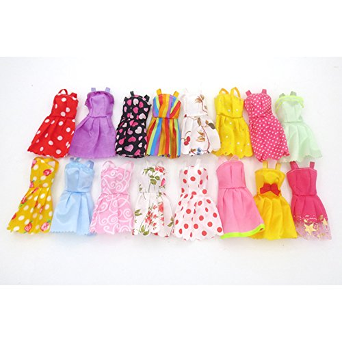 Qiyun Fashion Party Dress Princess Gown Clothes Outfit for 11in Barbie Doll Short Dress 6 - Mall Shopping Great Lake
