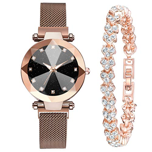 - Kay Cowper Fashion Luxury Gold Bracelet Multi-Edge Dial Women's Quartz Watch Gift Set