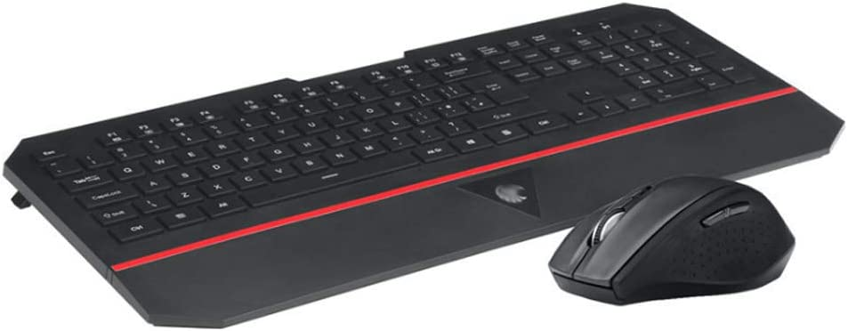 YYZLG 2.4g Wireless Keyboard and Mouse Set Ultra-Thin Office Keyboard and Mouse Kit E780 Upgrade Version