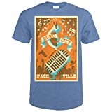 Nashville, Tennessee - Music City (Heather Royal T-Shirt Large)