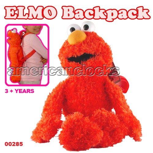 Sesame Street Famous Elmo Plush Backpack