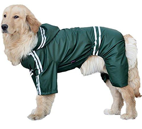 Aution House - Mascota Perro Impermeables Chubasqueros para Medianas y Grandes Perros - Impermeable Chanqueta con Capucha -Lluvia Impermeable Adecuado ...