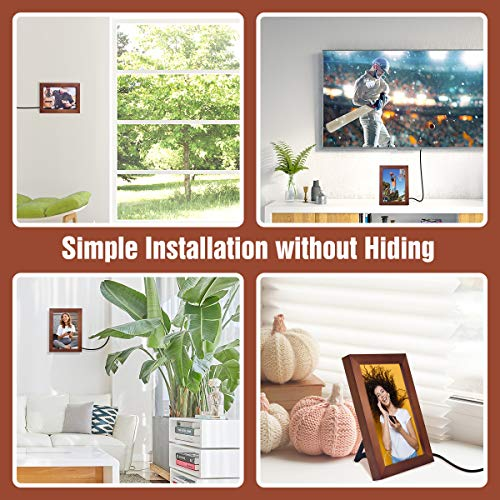 Oratec 2 in 1 Photo Frame Indoor HD Digital TV Antenna Amplified 4K 1080P Local Broadcast Signal 85
