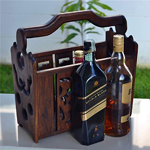 - Wooden Beer Caddy/Carrier/Holder/Tote/Basket Wood 3 Packs for Anniversaries/Groomsman/Birthdays