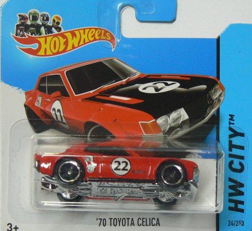 Hot Wheels HW City 2014 24/250 '70 Toyota Celica Red on Shor