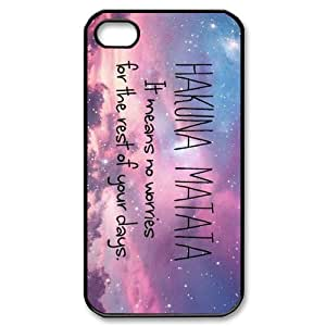 iPhone 4S 4 case No Worries Quotes Customized Back Protective Cover Case for Apple iPhone 4S and iPhone 4