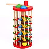 EITC Children Muti-Color Wooden Pound and Roll Toys for Hand-eye Coordination Hammering Toy Kids Educational