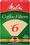 no 6 coffee filter - Melitta Cone Coffee Filters, Natural Brown, No. 6, 40-Count Filters (Pack of 12)