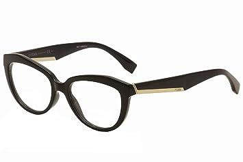42658fced008 Amazon.com: FENDI Eyeglasses 0020 0D28 Shiny Black 52MM: Health ...
