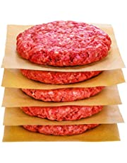 """Hiware 200 Count Unbleached Parchment Paper Squares 6"""" x 6"""", Non-Stick Wax Paper Sheets for Separate Burgers, Cookies & Other Foods When Storing, Freezing"""