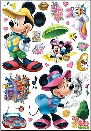 Micky Maus 3d Effekt Wandsticker Mickey Mouse Disney Wanddekoration ...